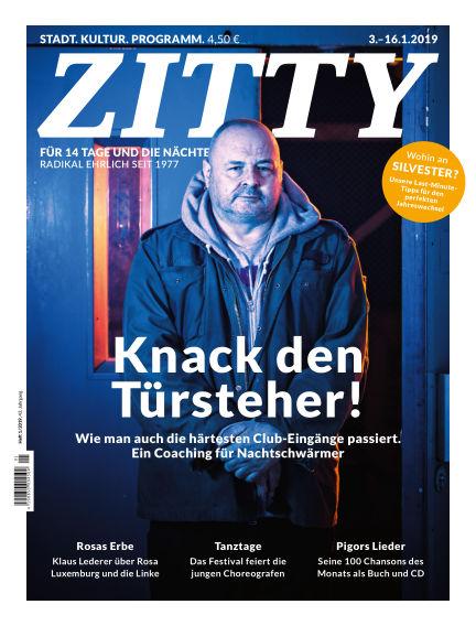 ZITTY Das Berlin-Magazin für 14 Tage und die Nächte December 28, 2018 00:00