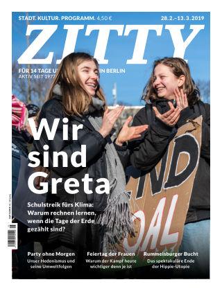 ZITTY Das Berlin-Magazin für 14 Tage und die Nächte 5/2019
