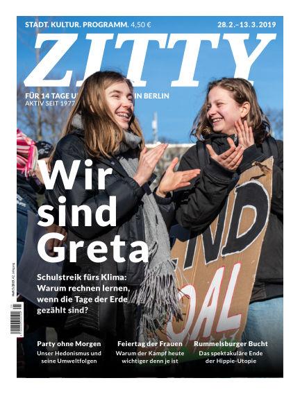 ZITTY Das Berlin-Magazin für 14 Tage und die Nächte February 26, 2019 00:00