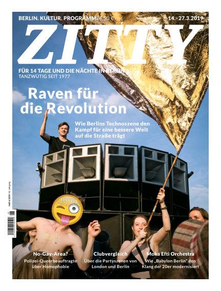 ZITTY Das Berlin-Magazin für 14 Tage und die Nächte March 13, 2019 00:00