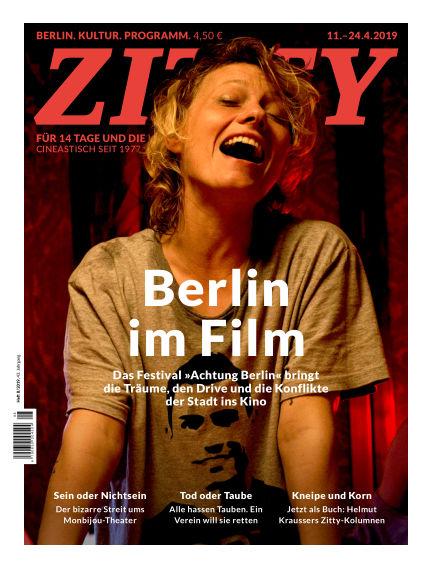 ZITTY Das Berlin-Magazin für 14 Tage und die Nächte April 10, 2019 00:00