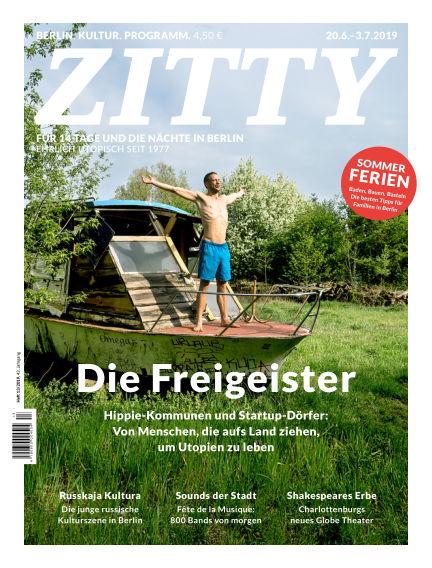 ZITTY Das Berlin-Magazin für 14 Tage und die Nächte June 19, 2019 00:00