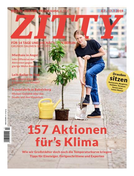 ZITTY Das Berlin-Magazin für 14 Tage und die Nächte July 03, 2019 00:00