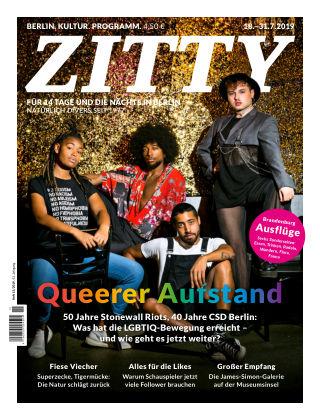 ZITTY Das Berlin-Magazin für 14 Tage und die Nächte 15/2019