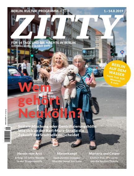 ZITTY Das Berlin-Magazin für 14 Tage und die Nächte July 31, 2019 00:00