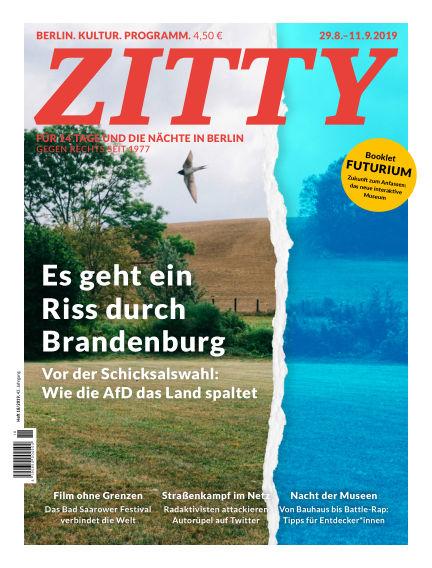 ZITTY Das Berlin-Magazin für 14 Tage und die Nächte August 28, 2019 00:00