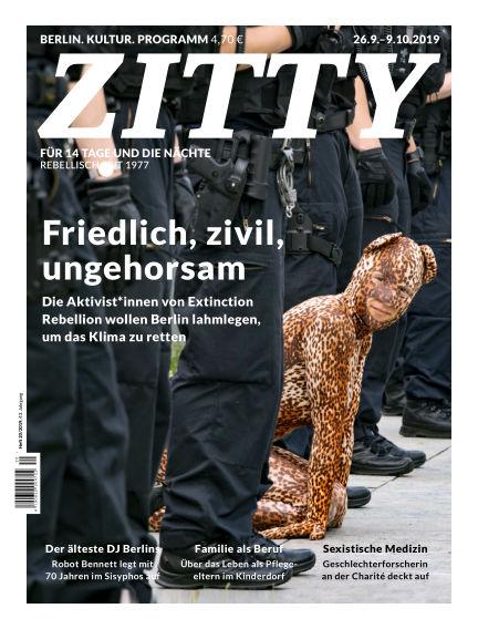 ZITTY Das Berlin-Magazin für 14 Tage und die Nächte September 25, 2019 00:00