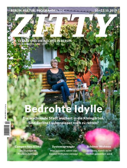 ZITTY Das Berlin-Magazin für 14 Tage und die Nächte October 09, 2019 00:00