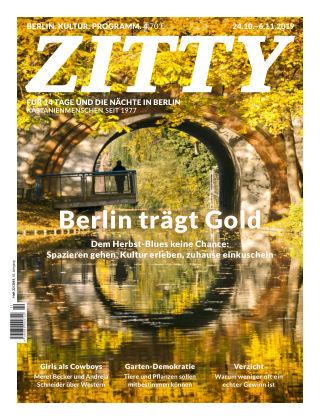 ZITTY Das Berlin-Magazin für 14 Tage und die Nächte 22/2019