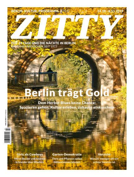 ZITTY Das Berlin-Magazin für 14 Tage und die Nächte October 23, 2019 00:00