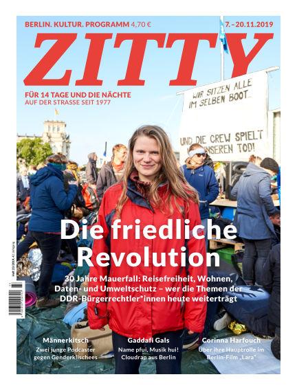 ZITTY Das Berlin-Magazin für 14 Tage und die Nächte November 06, 2019 00:00