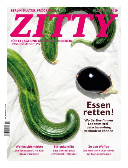 ZITTY Das Berlin-Magazin für 14 Tage und die Nächte November 20, 2019 00:00