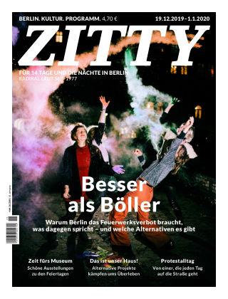 ZITTY Das Berlin-Magazin für 14 Tage und die Nächte 26/2019