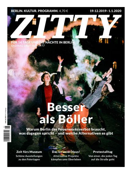 ZITTY Das Berlin-Magazin für 14 Tage und die Nächte December 18, 2019 00:00