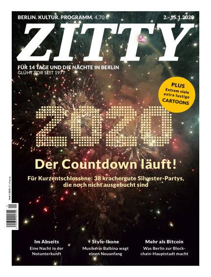 ZITTY Das Berlin-Magazin für 14 Tage und die Nächte December 27, 2019 00:00