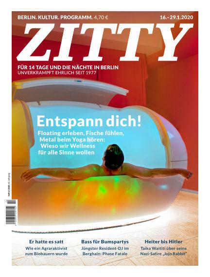 ZITTY Das Berlin-Magazin für 14 Tage und die Nächte January 15, 2020 00:00