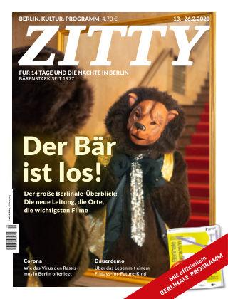 ZITTY Das Berlin-Magazin für 14 Tage und die Nächte 4/2020