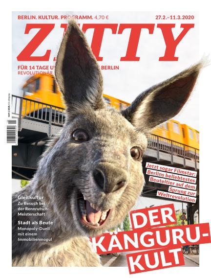 ZITTY Das Berlin-Magazin für 14 Tage und die Nächte February 25, 2020 00:00