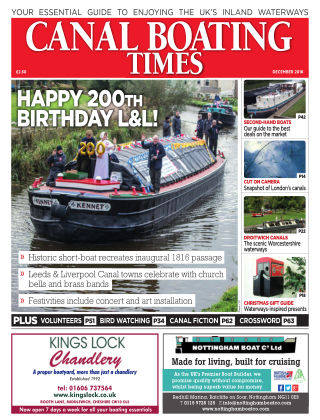 Canal Boating Times December 2016