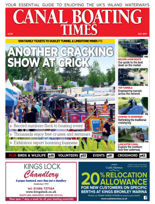 Canal Boating Times July 2017