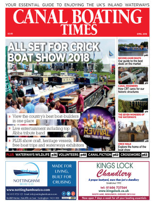 Canal Boating Times April2018