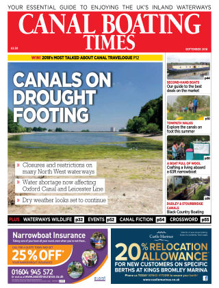 Canal Boating Times September2018