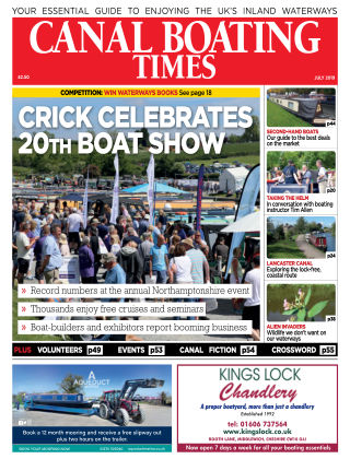 Canal Boating Times July2019