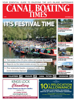 Canal Boating Times September2019