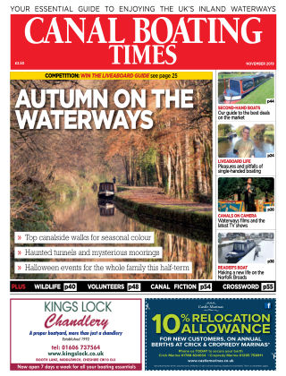 Canal Boating Times November2019