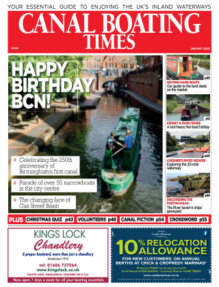 Canal Boating Times January2020