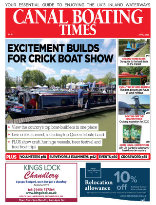 Canal Boating Times April2020