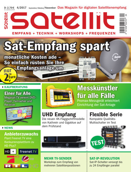 SATELLIT EMPFANG + TECHNIK August 18, 2017 00:00