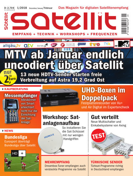 SATELLIT EMPFANG + TECHNIK November 17, 2017 00:00