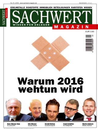 Sachwert Magazin 01/2016