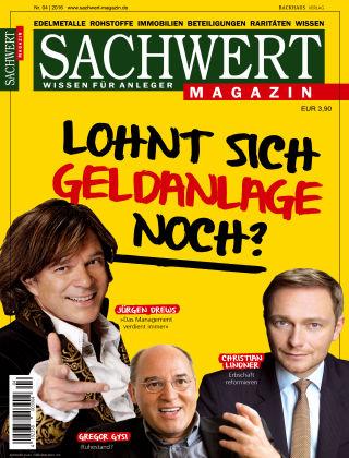 Sachwert Magazin 04/2016