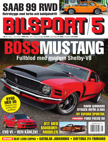 Bilsport February 25, 2016 00:00