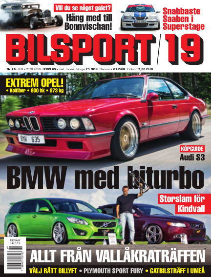 Bilsport September 08, 2016 00:00