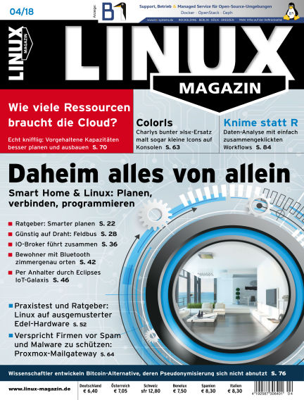 Linux-Magazin March 08, 2018 00:00