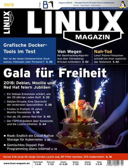 Linux-Magazin August 02, 2018 00:00