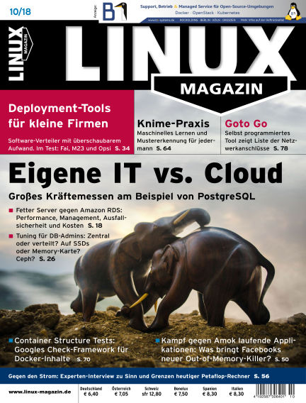 Linux-Magazin September 08, 2018 00:00