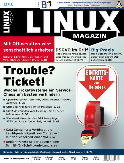 Linux-Magazin November 08, 2018 00:00