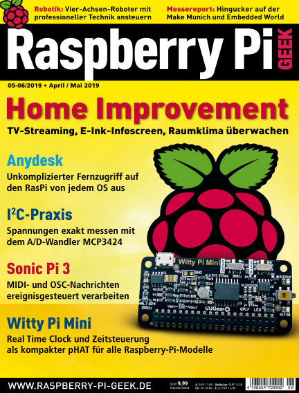 Raspberry Pi Geek April 04, 2019 00:00