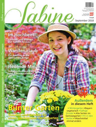 SABINE-Magazin 09/2018
