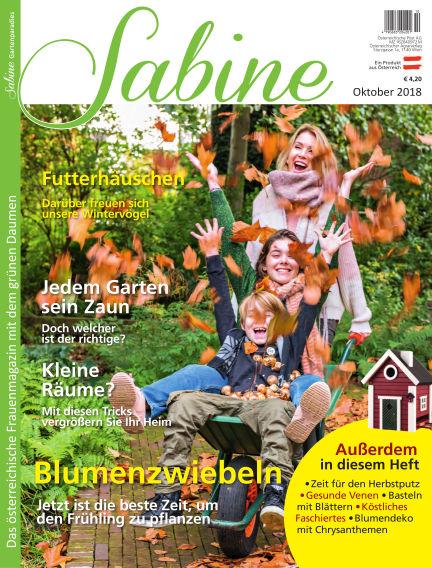 SABINE-Magazin (eingestellt) September 21, 2018 00:00
