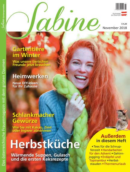 SABINE-Magazin October 26, 2018 00:00