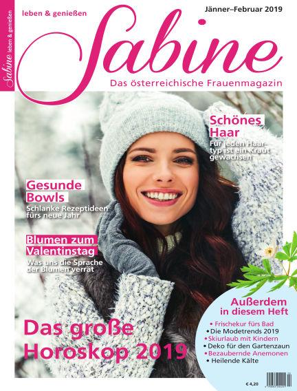 SABINE-Magazin January 07, 2019 00:00