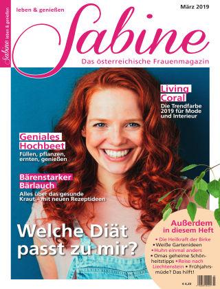 SABINE-Magazin 02/2019