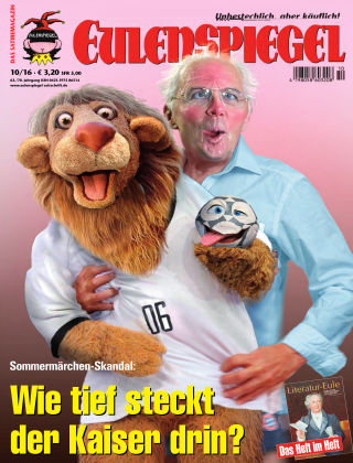 EULENSPIEGEL, das Satiremagazin 10/2016