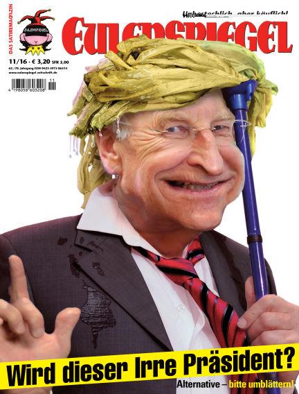 EULENSPIEGEL, das Satiremagazin October 27, 2016 00:00