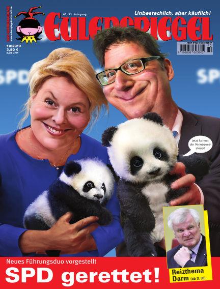 EULENSPIEGEL, das Satiremagazin September 26, 2019 00:00